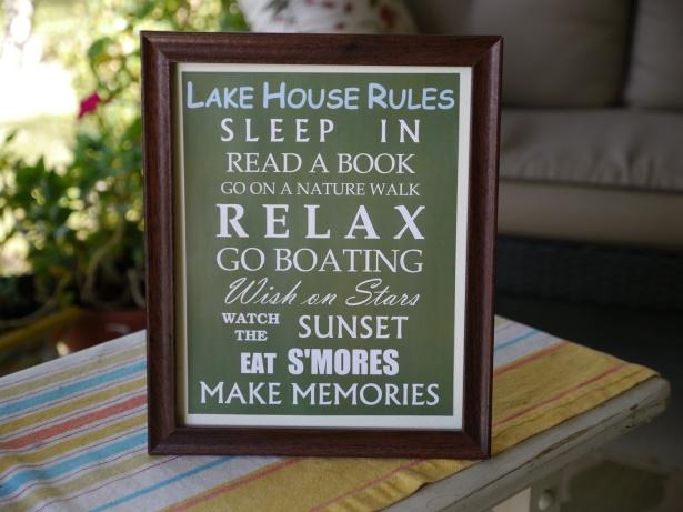 Lake house rules on Etsy