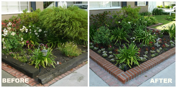 Before After Front Planter