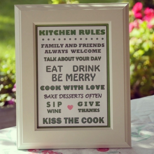 Family Rules on Etsy