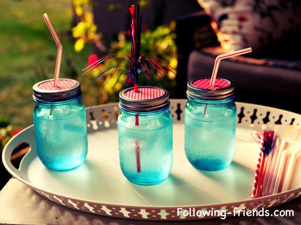 Following-friends Mason Jar drink