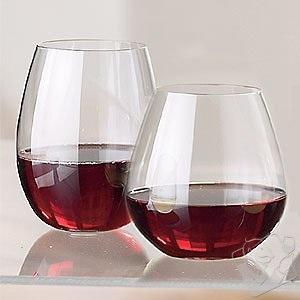 World market stemless wine glass