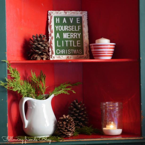 Christmas Shelves Following-friends