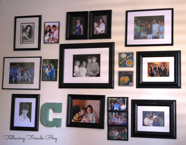 Photo Wall Gallery Idea - Following Friends Blog