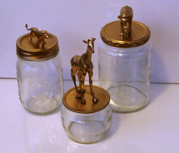 Animals on Mason Jars