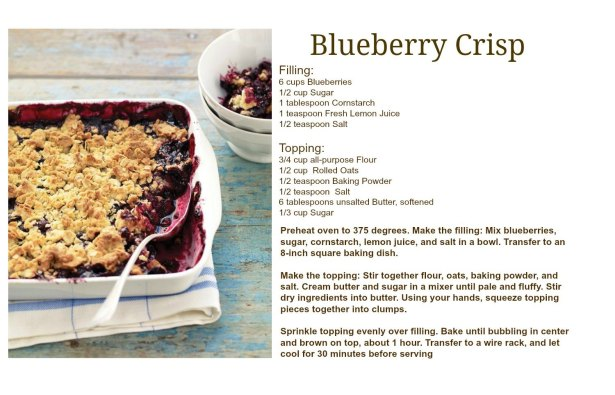 Blueberry Crisp Recipe