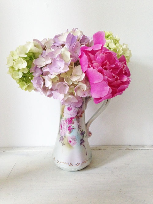 Vintage Vase and Summer Flowers