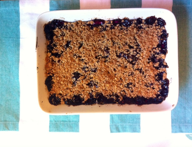 Blueberry Crisp Following-friends Blog