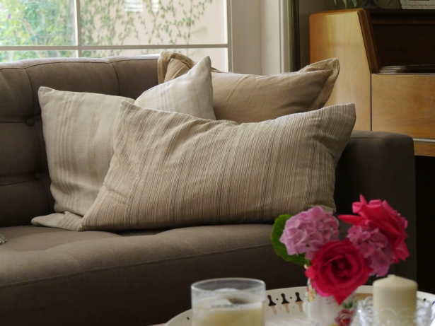 Pillow on couch - Following-friends Blog