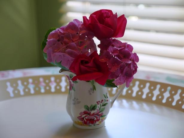 Pink flowers in Vintage vase
