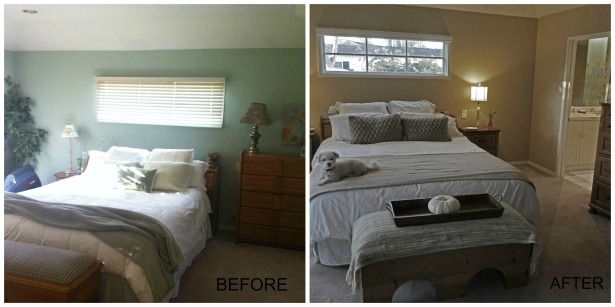 BeforeAfter Master Bedroom