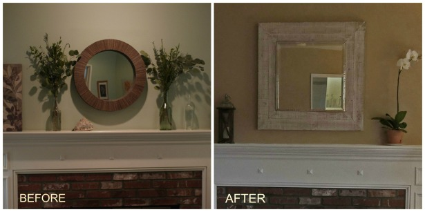 Mantle Before After