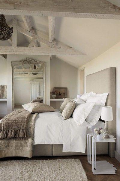 Tan and white Master Bedroom Idea