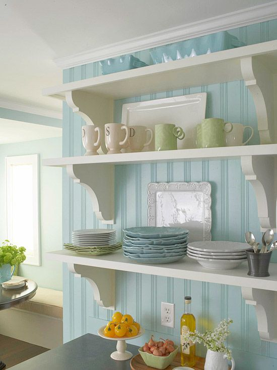 Open shelves Pinterest