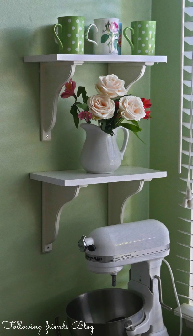 Shelves with kitchen aid