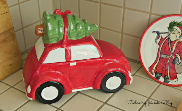 Red Car Cookie Jar