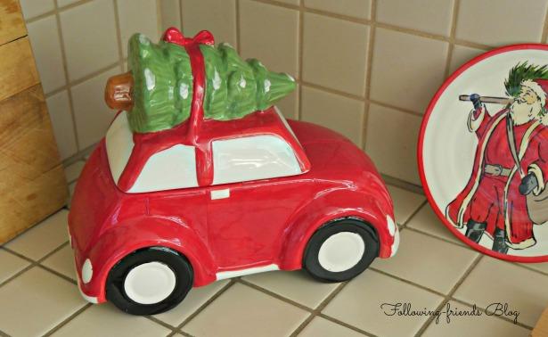 Red Car Cookie Jar