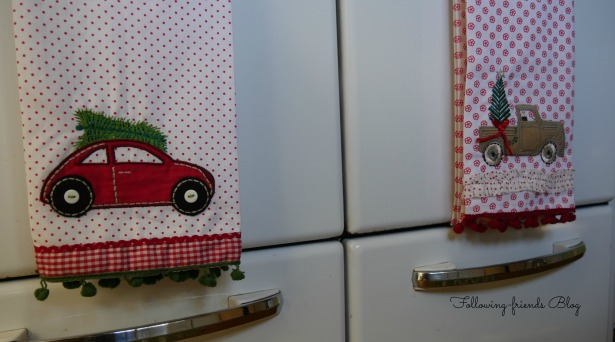Red Car Kitchen Towels